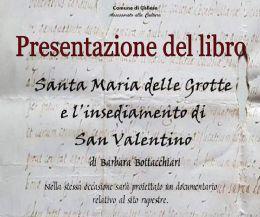 Locandina: Presentazione del libro su San Valentino e Santa Maria delle Grotte