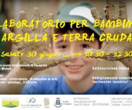 Locandina: Laboratorio per bambini Argilla e Terra Cruda