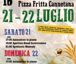 Locandina: 16/a Sagra della Tipica Pizza Fritta Cannetana