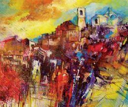 Locandina: Monte Compatri a colori.  Estemporanea di pittura