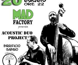 Locandina: Acoustic duo Jazz swing