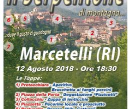 "Locandina: ""Serpentone di Montagna"" a Marcetelli (RI)"