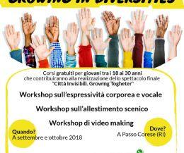 Locandina: Laboratori gratuiti integrati di teatro per giovani under 30