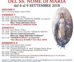 Locandina: Week End di festa grande a Monte Santa Maria