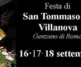 Locandina: Festa patronale di S. Tommaso da Villanova