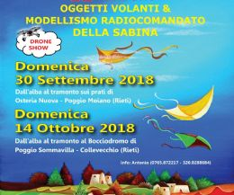 """Locandina: 12° raduno di """"Oggetti Volanti & Modellismo Radiocomandato"""" della Sabina"""