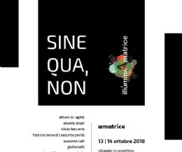 Locandina: Sine Qua, Non. Contemporary textile and fiber art project