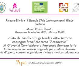 Locandina: Finissage della V Biennale d'Arte Contemporanea sezione di Tolfa