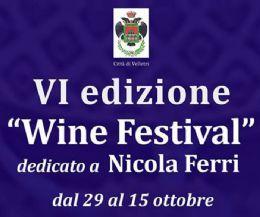 Locandina: 6° Velletri Wine Festival Nicola Ferri