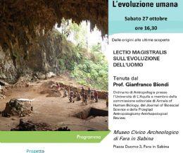 Locandina: L'evoluzione dell'uomo, dalle origini alle ultime scoperte
