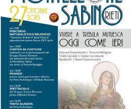 Locandina: Vivere a Trebula Mutuesca. Oggi come ieri