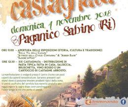 Locandina: Tradizionale Castagnata di Paganico Sabino