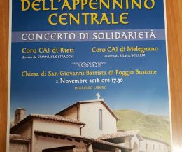 Locandina: Coro della Sezione CAI in tour