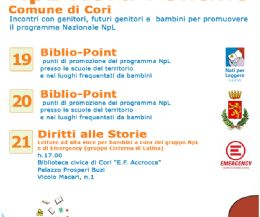 Locandina: Settimana Nazionale Nati per Leggere a Cori