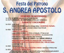 Locandina: Festeggiamenti del ventennale della Confraternita S. Andrea Apostolo