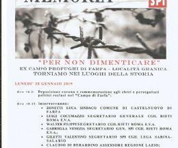 Locandina: Giorno della Memoria