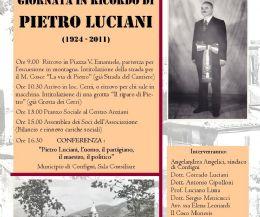 Locandina: Giornata dedicata a Pietro Luciani