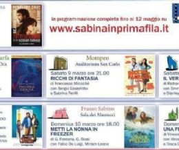 """Locandina: Due nuovi comuni e nuovi film per """"Sabina in prima fila"""""""
