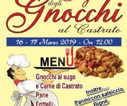 Locandina: Sagra degli gnocchi al castrato e frittelle di San Giuseppe