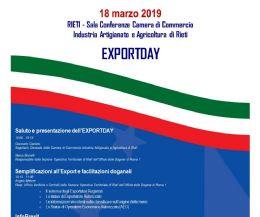 Locandina: Export Day 2019