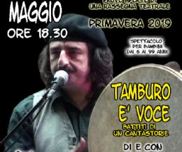 Locandina: Tamburo è voce... battiti di un cantastorie