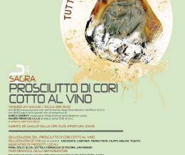 Locandina: A Cori la Seconda Sagra del prosciutto cotto al vino