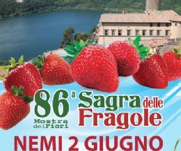 Locandina: 86° edizione della Sagra delle Fragole