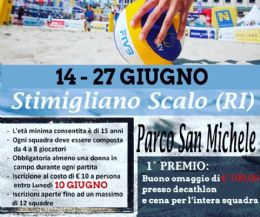 Locandina: Torneo Beach Volley 3 vs 3 misto
