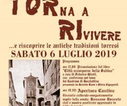 Locandina: TORna a RIvivere 2019