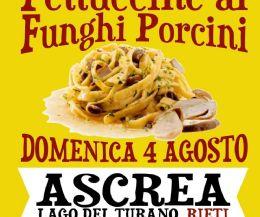 Locandina: Sagra della fettuccina al fungo porcino