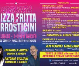 Locandina: 15° Sagra Pizza Fritta e Arrosticini
