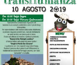 Locandina: 7° Percorso Gastronomico 'transhumanza' e 29/a Sagra del formaggio pecorino