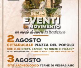 Locandina: Eventi in movimento. Un modo di vivere la tradizione