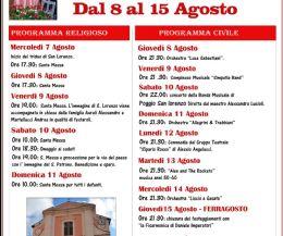 Locandina: Festeggiamenti in onore di San Lorenzo