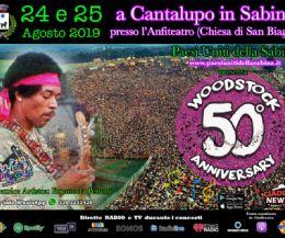 Locandina: 50° Anniversario di Woodstock nell'Anfiteatro di Cantalupo in Sabina
