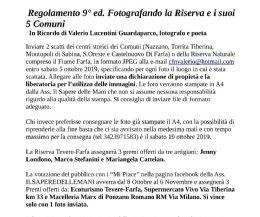 Locandina: Fotografando la Riserva Tevere-Farfa e i suoi 5 Comuni