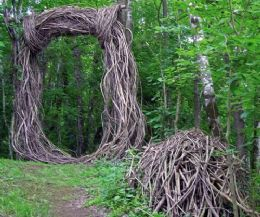 Locandina: Opera Bosco Museo di Arte nella Natura a Casa studio Morosin