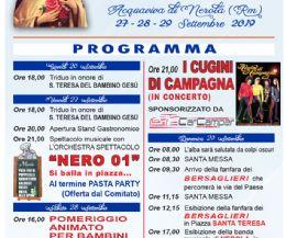 Locandina: Festeggiamenti patronali di Santa Teresa 2019