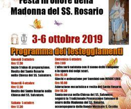 Locandina: Festa in Onore della Madonna del SS. Rosario