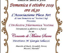 Locandina: Concerto di Musica sacra