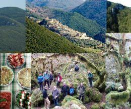 Locandina: U'Revotano, laggiù nel suo verde sprofondo e l'eremo rupestre di S. Leonardo