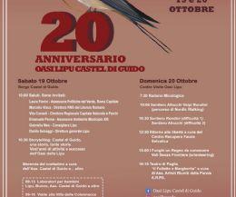 Locandina: 20° Anniversario Oasi LIPU Castel di Guido