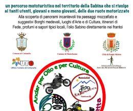 Locandina: Andar per Olio e per Cultura sulle Strade dei Bianchi in Motocicletta