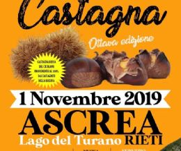 Locandina: VIII Festa della Castagna ad  Ascrea