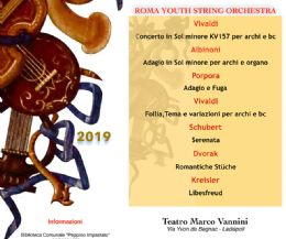 Locandina: Roma Youth String Orchestra in concerto