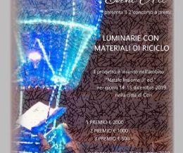 Locandina: Luminarie con materiale di riciclo