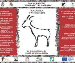 Locandina: Inaugurazione itinerario del capraro