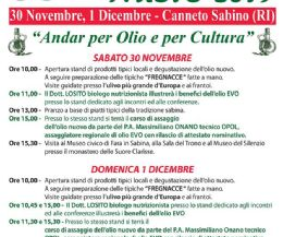 Locandina: Festa dell'Olio Nuovo 2019