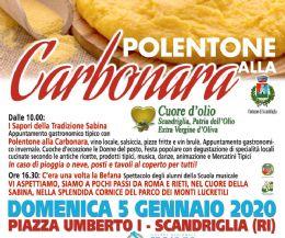 Locandina: I Sapori della tradizione Sabina. Polentone alla Carbonara