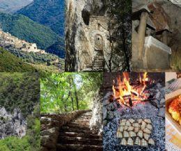 Locandina: Il cammino degli eremiti, i loro romitori e la polenta alla brace